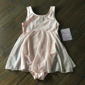 NWT Just Imagine M 8/10 pink leotard/dance wear